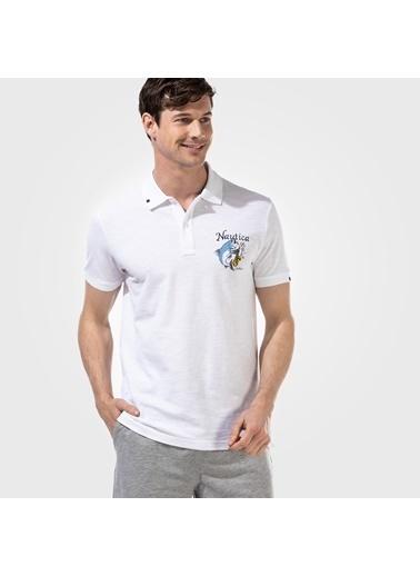 Nautica K15628T.1BW Nautıca Erkek Beyaz Slım Fıt Polo Beyaz
